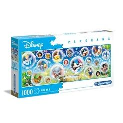 Panorama-palapeli 1000 palaa Disney hahmot Clementoni