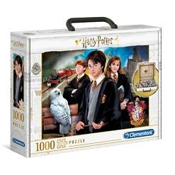 Palapeli 1000 palaa pahvisalkussa Harry Potter Clementoni