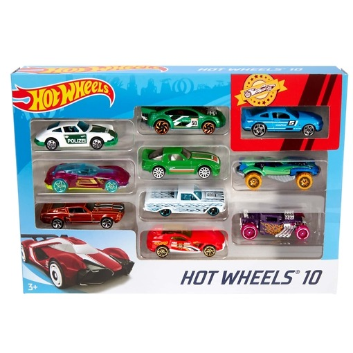 Pikkuauto 10 kpl/pkt Hot Wheels