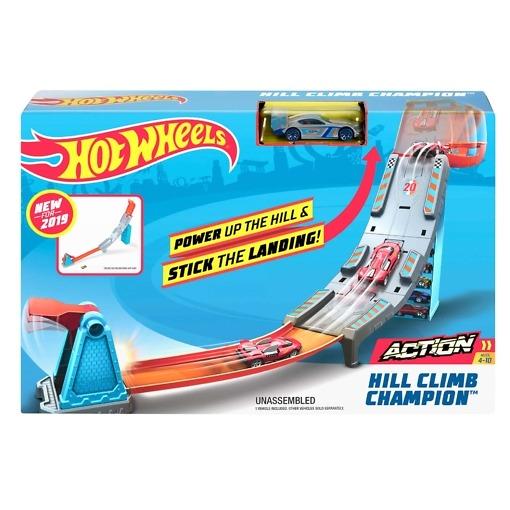 Autorata ja auto Hill Climb Hot Wheels