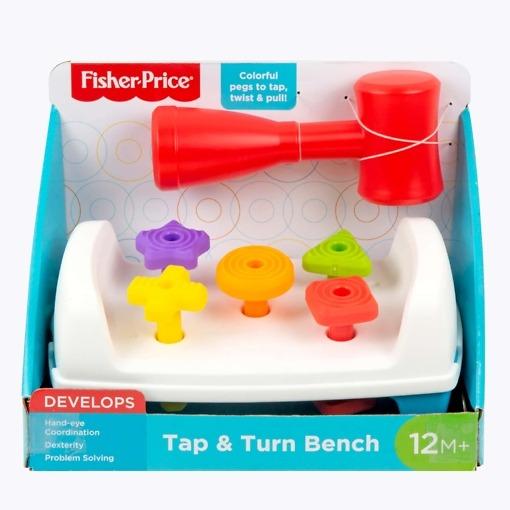 Aktiviteettilelu Tap and Turn Bench Fisher Price
