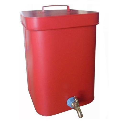 Pesusäiliö seinälle 10 L kantikas punainen 4Living