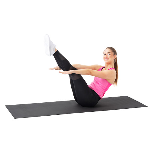 Fitnessmatto 3 mm musta Atom