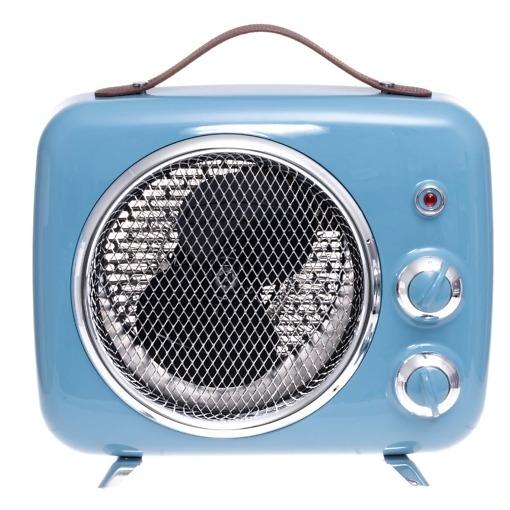 Puhallinlämmitin sininen retro 2000W Bellus