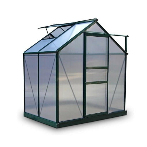 Alumiinirunkoinen 2.3 m² musta kasvihuone Green Land