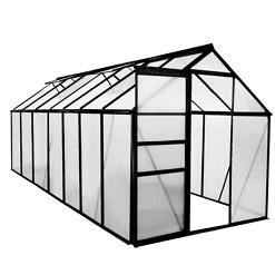 Alumiinirunkoinen 8,2 m² kasvihuone Green Land