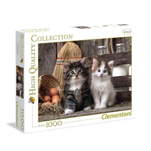 Palapeli 1000 palaa Kissanpennut Clementoni