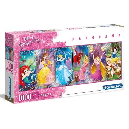 Panorama-palapeli 1000 palaa Disneyn prinsessat Clementoni