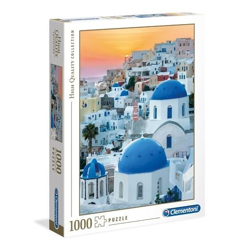 Palapeli 1000 palaa Santorini Clementoni