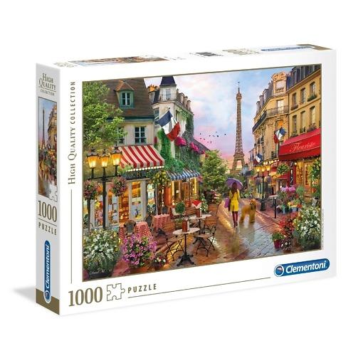 Palapeli 1000 palaa Pariisin katu Clementoni