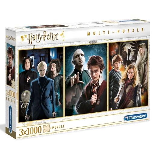 Palapeli 3x1000 palaa Harry Potter Clementoni