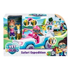 Safariauto ja hahmot Vet Squad
