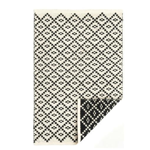Matto 60×90 cm musta/valkoinen Huurre 4Living