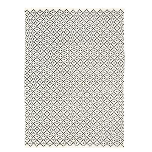 Matto 140x200 cm musta/valkoinen Huurre 4Living