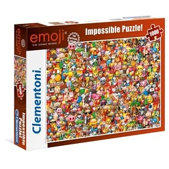 Palapeli 1000 palaa Impossible Emoji Clementoni