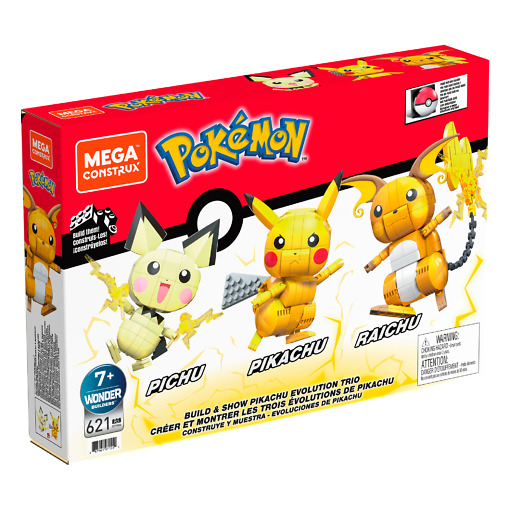 Rakennussarja Pokémon Pichu, Pikachu ja Raichu