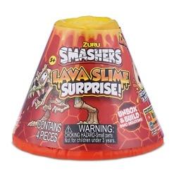 Yllätys tulivuori ja dinosaurus Smashers Lava Slime