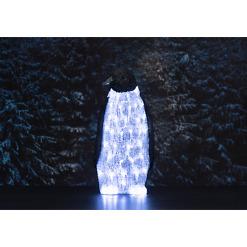 Koristevalaisin Akryyli Pingviini 40 LED Finnlumor