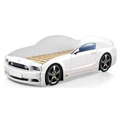 Lasten autosänky valkoinen Mebelev Mustang Plus