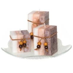 Tuoksupöytäkynttilä lahjapakkaus 4-osainen valkoinen