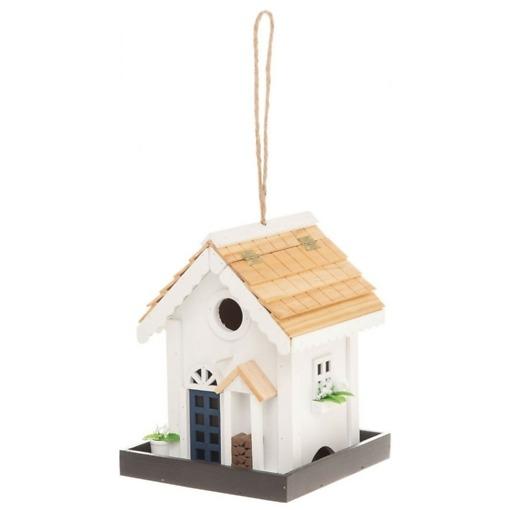 Lintujen ruokinta-automaatti valkoinen talo Tintti