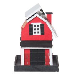 Lintujen ruokinta-automaatti punainen talo Tintti