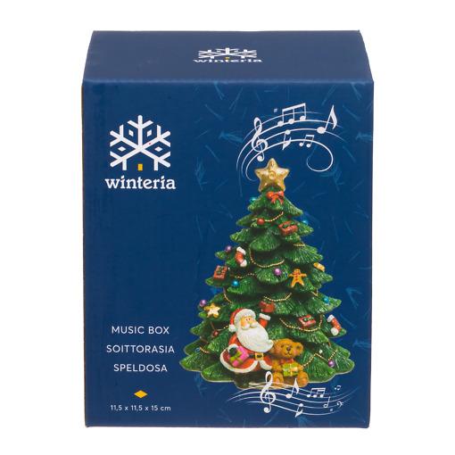 Soittorasia Joulukuusi 15 cm vihreä Winteria