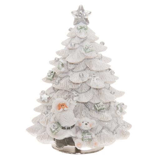 Soittorasia Joulukuusi 15 cm valkoinen Winteria