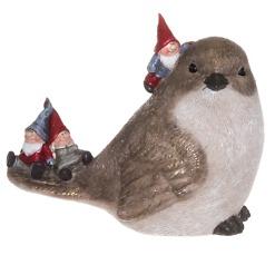 Lintu tontut selässä 19 cm Winteria